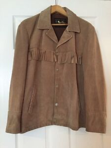 Men's Tan, Mac Mor, XL Genuine Suede Leather Jacket