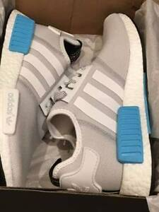 BRAND NEW Adidas NMD NMD_R1 White/ White/Bright Cyan Wolli Creek Rockdale Area Preview