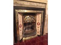 Brass fireplace & surround