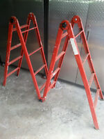 18 ft échelle Multi  steel ladder, folding, scaffold, extendable