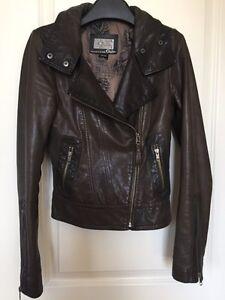 Aritzia Mackage Kenya Leather Jacket XS in Gunmetal