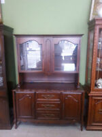 ANTIQUE FRENCH PROVINCIAL CHINA CABINET