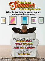 Hanging your art - non juried art centre