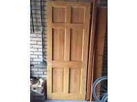 Clear pine internal door with hinges