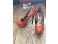 Orange Gloss New Look Heels