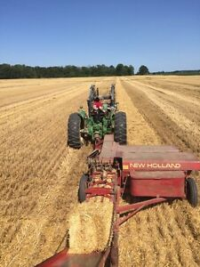 Small square straw and hay