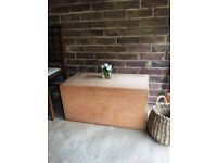 VINTAGE WOODEN BOX FREE DELIVERY STORAGE CHEST COFFEE TABLE