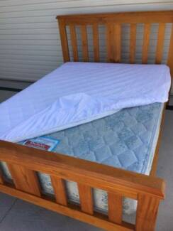 Double Bed Timber Frame & Mattress + Free Local Delivery