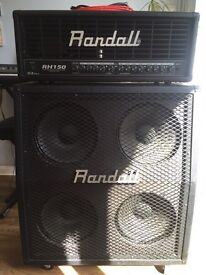 Guitar amp and cab Randall 4x12