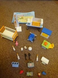 Playmobil As New Complete with Instructions Hospital Set Only £5 please note there are two chair