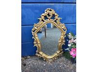 FRENCH ROCOCO GILTED MIRROR FREE DELIVERY