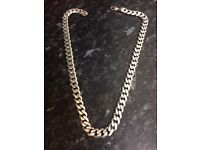 150g 925 silver curb necklace.