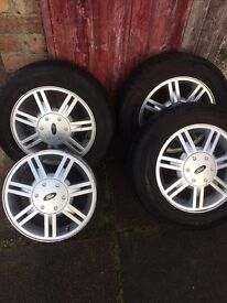Ford alloys 175/65 R14 priced for quick sale