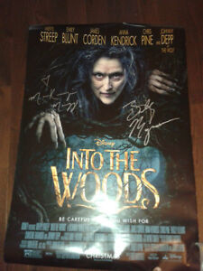 Into The Woods Autographed Poster