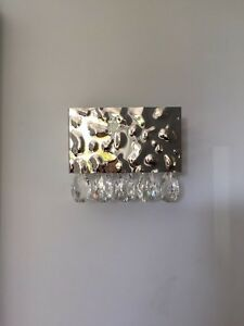Silver and crystal wall sconce (2 of them)