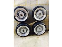 "BBS alloys rep 18"" 5x100 WITH TYRES ALMOST NEW"