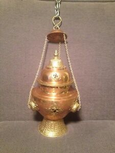 Hanging Copper Church Censer / incense burner Prince George British Columbia image 1
