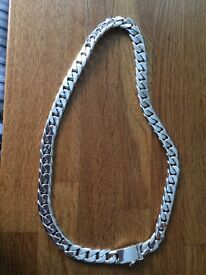 925 Sterling Silver Taxaco Mexican Curb Chain Necklace 274grms 26inch