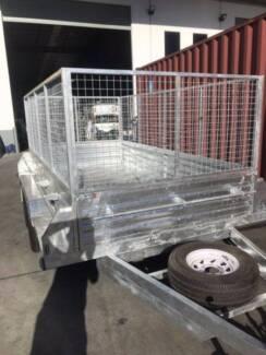 3500KG 12x6 Caged Trailer Galvanised