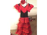 Flamenco dress and shoes for child