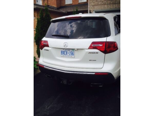 White 2010 Acura MDX SUV TOW PACKAGE, CAMERA, 2 DVD