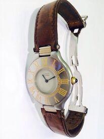 Must De Cartier 21 Stainless Steel/ 18k gold watch