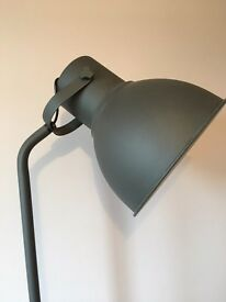 Black standing lamp