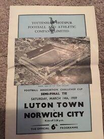 Norwich city football programme