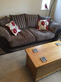 DFS SCATTER CUSHION SWIVEL CHAIR AND 3-4 PERSON SOFA RRP £1600