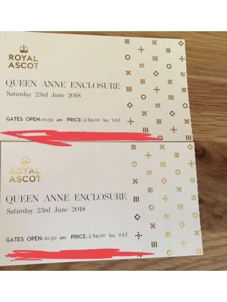£84 each - Royal Ascot x 2 Queen Anne Enclosure tickets 23/6/18