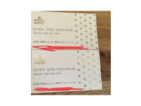 £84 each - Royal Ascot x 2 Queen Anne Enclosure tickets 23/6/18