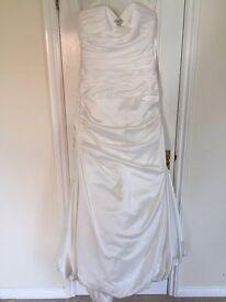 Satin Wedding dress size 12