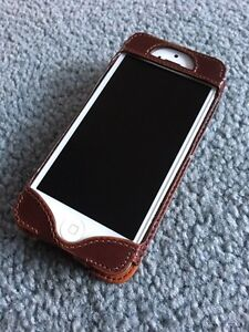 Genuine leather iPhone case with card holder. For 5/5c/5s/SE