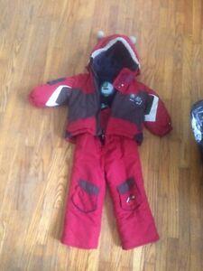 Gagou Tagou Red winter coat and snow pants