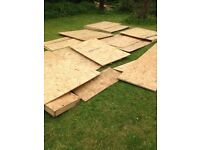 DIY Materials OSB board for shed garden home project