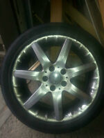 Low profile tires and mags 225 - 45 - 17 and 185 70 14 w/o rims