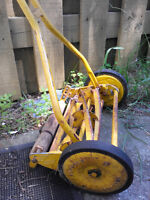 Push lawn mower old style