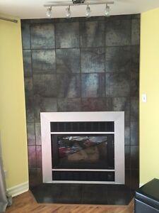 Gas fireplace / foyer au gaz. 22000 BTU