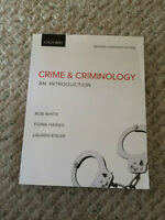 Crime & Criminology; An intro by White, Haines, Eisler 2nd ed.