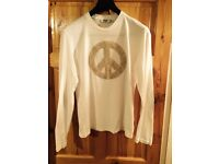 Mens moschino long sleeved top size xl