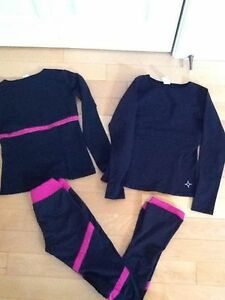 Chloe Noel skating pants ( medium child) and two Chloe Noel tops