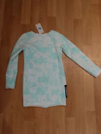 NEW sweatshirt dress size 7-8y
