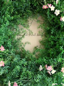 Greenery & Coral Pink Wild Flower Wreath/ Spring Wreath/ Wedding Belleville Belleville Area image 2