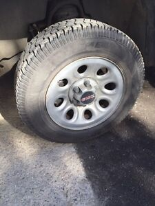 "17"" gmc rims with good tires"