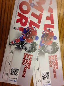 Habs vs. Leafs REDS (Pair of tickets) October 29, 2016
