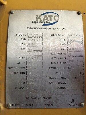 800 Kw Kato Generator End 480v 1200 Rpm Sn 16271-04
