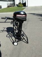 Wheeled Cart / rack / outboard Motor Stand + NEW o/b Fuel tank