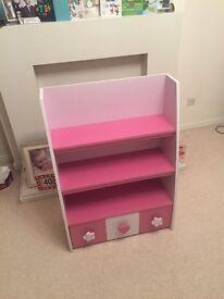 Child / kids bookcase pink / purple girls