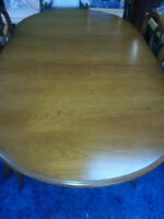 GIBBARD FRENCH PROVINCIAL  DINING TABLE SET