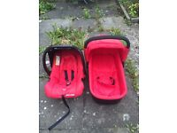 Baby car seat and carrycot